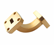 Main Image - WR-28 Millimeter Waveguide E-Bend, 1-Inch Section, 26.5 GHz to 40 GHz