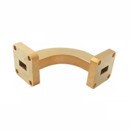 Image - WR-28 Millimeter Waveguide H-Bend, 1-Inch Section, 26.5 GHz to 40 GHz