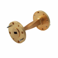 WR-3 Millimeter Waveguide 90 Degree Twist, 2.5-Inch Section, 220 GHz to 325 GHz