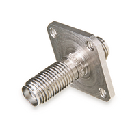 232-512SF - SMA Female (Jack) to  Female (Jack) - Flange Mount (Threaded Mounting Holes)