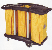 EDCO Tripple Bag Janitor Cart