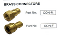 Brass Quick Connector Female for Carpet Extractors