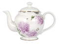 Ashdene Pink Peonies Teapot with Metal Infuser