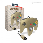 """Captain"" Premium Controller for N64 - Gold"