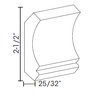 "Pacifica Crown Molding 2 1/2""H"