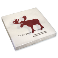 Moose Red Dinner Napkin