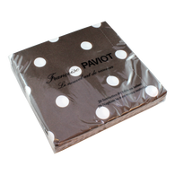 Brown Polka Dots Dinner Napkin