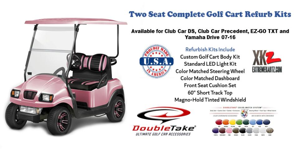 Doubletake Two Seat Golf Cart Refurbish Kit