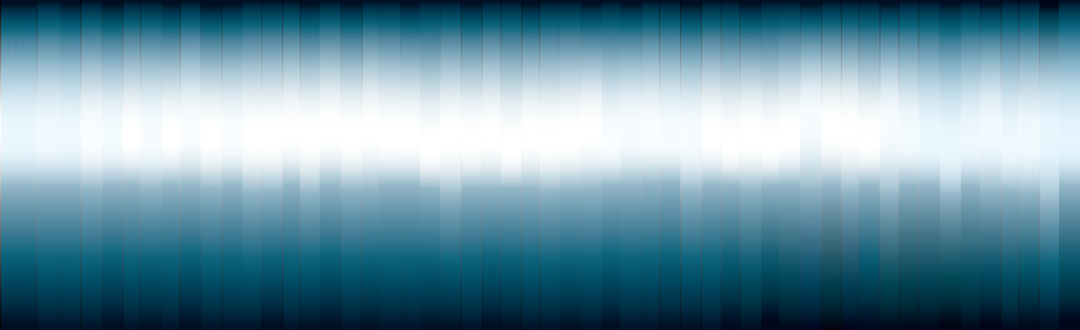 blue background with white burst in the middle.