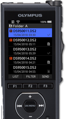 Showing the DS-9500 connected over wifi getting real-time updates on files.
