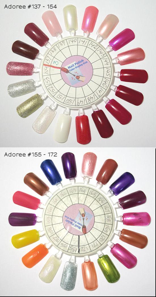 Adoree Nail Polish Color Swatches