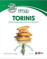 Asturi Torinis Rosemary & Olive Oil (Pack of 12) 3.53oz bags