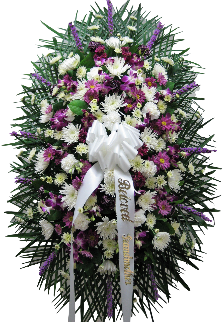 Standing Funeral Spray Norrthern Blvd Florist Queens Ny Fyneral Flowers