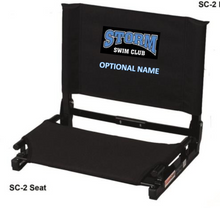 S15 - Stadium Chair with Storm Logo on BACK of Chair