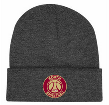 07 CHARCOAL Grey Beanie with Embroidered South Basketball Logo