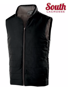LSLAXVESTUB HOLLOWAY UNISEX Vest (BLACK) with Embroidered SOUTH LACROSSE Left Chest Logo