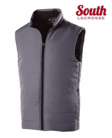 LSLAXVESTUG HOLLOWAY UNISEX Vest (GRAPHITE) with Embroidered SOUTH LACROSSE Left Chest Logo