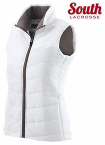 LSLAXVESTLW HOLLOWAY LADIES Vest (WHITE) with Embroidered SOUTH LACROSSE Left Chest  Logo