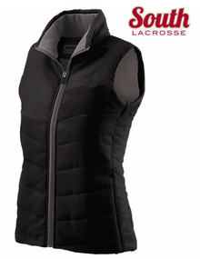LSLAXVESTLB HOLLOWAY LADIES Vest (BLACK) with Embroidered SOUTH LACROSSE Left Chest  Logo