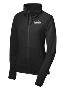 LADIES Performance Stretch Full-Zip Jacket with left chest embroidered logo