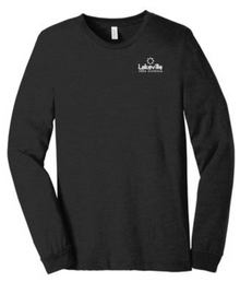 Unisex  Jersey Long Sleeve Tee with Embroidered LEFT CHEST Logo