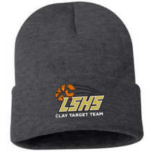 LSCT13  Dark Gray Beanie with fold and embroidered logo