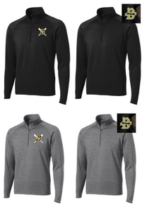 BSB01H - Performance Unisex Fit Quarter Zip with CHOICE of Embroidered Logo