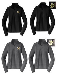 BSB01I - Performance LADIES Fit Quarter Zip with CHOICE of Embroidered Logo