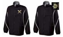BFP16- BLACK Holloway Wind/Water PROOF Jacket with CHOICE of Embroidered Logo