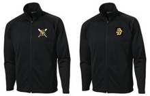 BSB01K - BLACK Tricot Track Jacket with CHOICE of Embroidered Logo