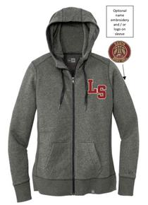 LSBB1 - Lakeville South New Era® Ladies French Terry Full-Zip Hoodie (BLACK TWIST)