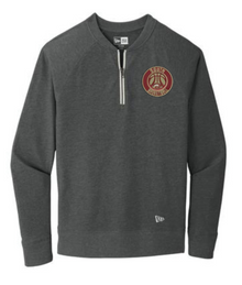 LSBB5SB Unisex Black Heather New Era ® Sueded Cotton Blend 1/4-Zip Pullover with Embroidered  South Basketball  Logo