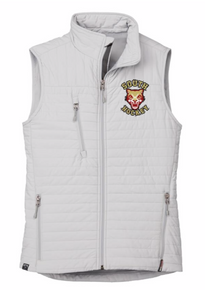 LSH05P PLATINUM (Light Grey) WOMEN'S ECO INSULATED QUILTED VEST with embroidered left chest South Hockey Logo