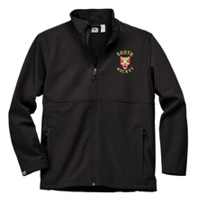 LSH01 BLACK MEN'S HIGH-STRETCH FLEECE-LINED SOFTSHELL JACKET with embroidered left chest  South Hockey Logo