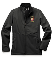 LSH03 BLACK WOMEN'S HIGH-STRETCH FLEECE-LINED SOFTSHELL JACKET with embroidered left chest  South Hockey Logo