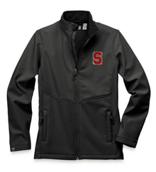 """LSH04 BLACK WOMEN'S HIGH-STRETCH FLEECE-LINED SOFTSHELL JACKET with embroidered left chest  """"S"""" Logo"""