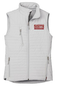 LSHS02 PLATINUM (Light Grey) WOMEN'S ECO INSULATED QUILTED VEST with embroidered left chest Lakeville South Logo