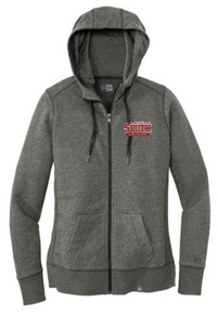 LSHS04 - Black Twist New Era® Ladies French Terry Full-Zip Hoodie with Embroidered Lakeville South Logo