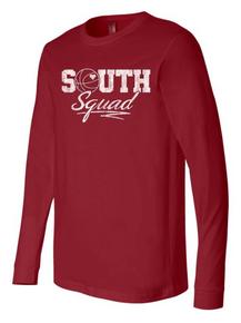 SOUTH SQUAD Cardinal Long Sleeve T-Shirt