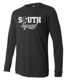 SOUTH SQUAD Dark Heathered Grey Long Sleeve T-Shirt