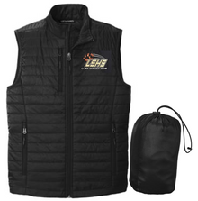 LSCT10 Port Authority ®  UNISEX Packable Puffy Vest (BLACK) with embroidered left chest CLAY TARGET TEAM Logo