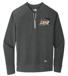 LSCT12 Unisex Black Heather New Era ® Sueded Cotton Blend 1/4-Zip Pullover with Embroidered LSHS Clay Target Team Logo