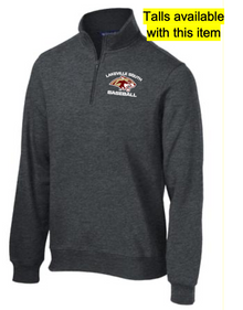 LSB10 Sport-Tek® Graphite Heather Grey 1/4-Zip UNISEX (Also in TALLS)Sweatshirt with embroidered left chest Lakeville South Baseball Logo