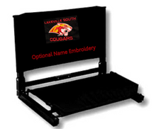 LSB13 BLACK Stadium Chair with embroidered Lakeville South Cougars Logo