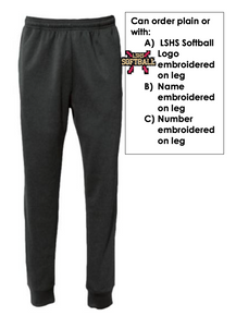 *TEAM OPTION* LSSB02 Pennant Performance Fleece Jogger Sweatpant (BLACK) NO LOGO