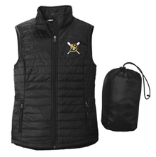 BFP11L Port Authority ®  LADIES Packable Puffy Vest (BLACK) with embroidered left chest Blaze Fastpitch Logo