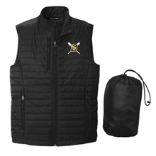 BFP11 Port Authority ®  UNISEX Packable Puffy Vest (BLACK) with embroidered left chest BLAZE FASTPITCH Logo
