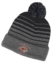 BAND25 Black and Gray Gradient Knit Hat with Embroidered Lakeville South Band Logo