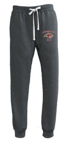 BAND10 (Adult & Youth) Pennant Black Heather Performance Fleece Jogger Sweatpant with Embroidered Lakeville South Band Logo on Leg