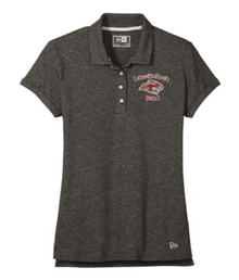 BAND13 Black Twist New Era ® Slub Twist Ladies Polo with left chest embroidered Lakeville South Band logo
